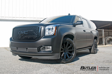 GMC Denali with 22in Black Rhino Traverse Wheels