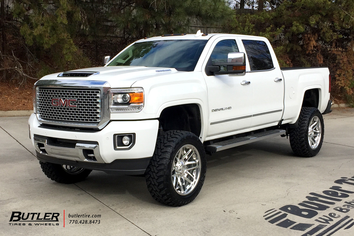 GMC Denali with 22in Grid Offroad GF2 Wheels