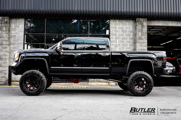 GMC Denali with 22in Grid Offroad GF3 Wheels
