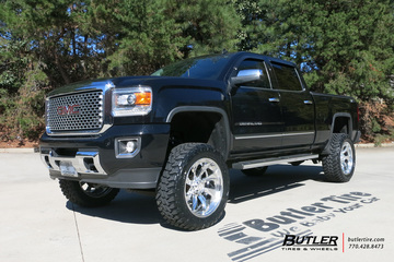 GMC Denali with 22in Grid Offroad GF4 Wheels