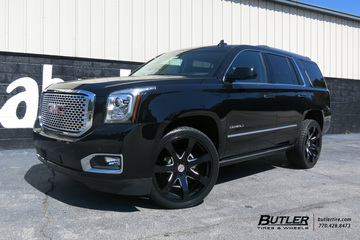 GMC Denali with 24in Black Rhino Mozambique Wheels