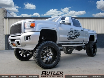 GMC Denali with 24in Hostile Hammered Wheels
