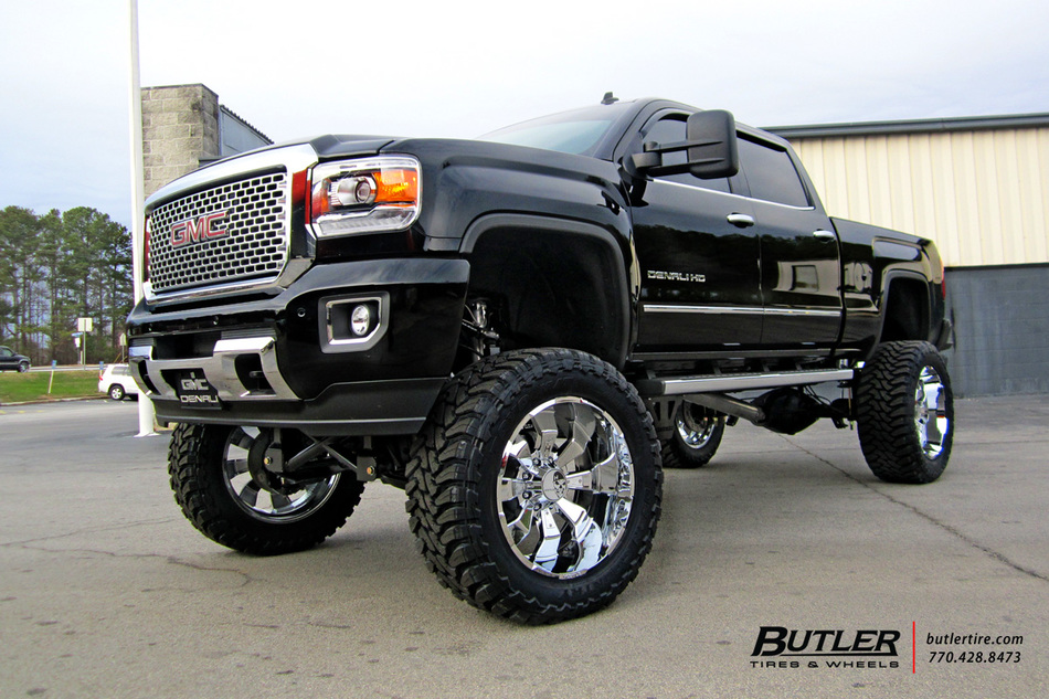 GMC Denali with 24in Hostile Hammered Wheels exclusively from Butler Tires and Wheels in Atlanta ...