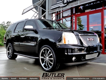 GMC Denali with 24in Lexani LSS10 Wheels