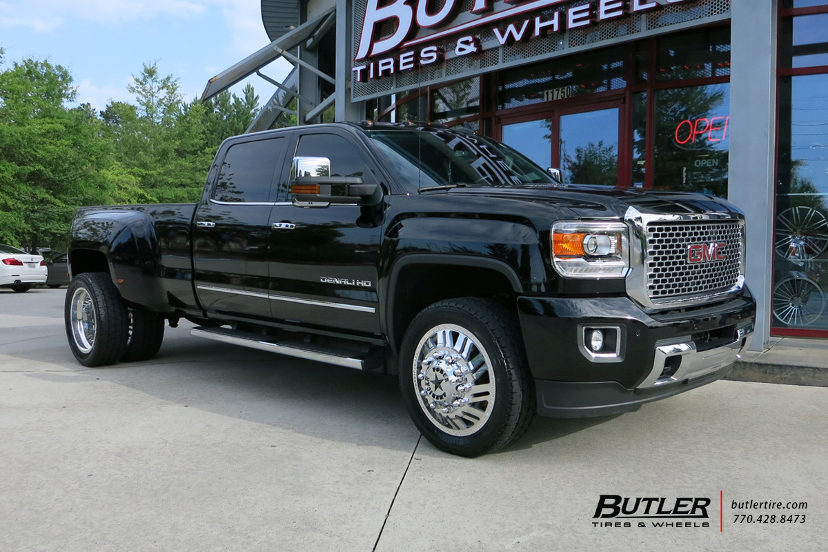 GMC Denali Dually with 22in American Force Switch Wheels