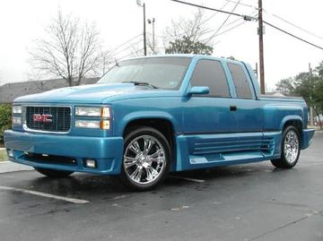 GMC Pickup with 20in DOA Toe Tag Wheels