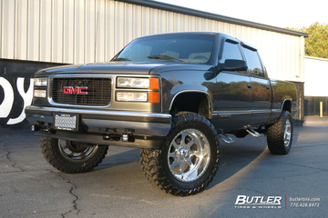 GMC Sierra with 20in American Force Burnout 8 Wheels