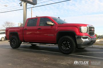 GMC Sierra with 20in Black Rhino Alpine Wheels