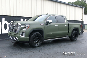 GMC Sierra with 20in Black Rhino Chase Wheels