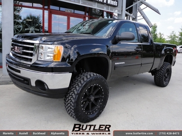 GMC Sierra with 20in Black Rhino Moab Wheels