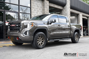 GMC Sierra with 20in Black Rhino Oceano Wheels