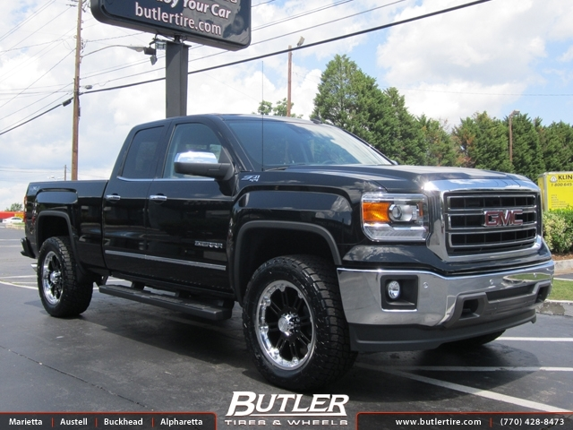 GMC Sierra with 20in Black Rhino Rockwell Wheels