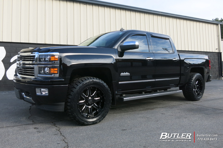 GMC Sierra with 20in Black Rhino Sierra Wheels exclusively ...