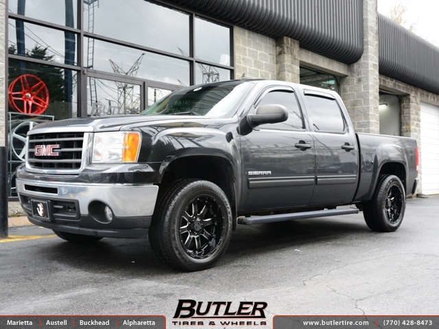 Gmc Sierra With 20in Black Rhino Sierra Wheels Exclusively From Butler Tires And Wheels In