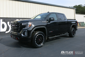 GMC Sierra with 20in Black Rhino Spear Wheels