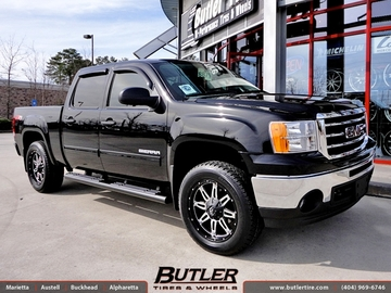 GMC Sierra with 20in Fuel Hostage Wheels