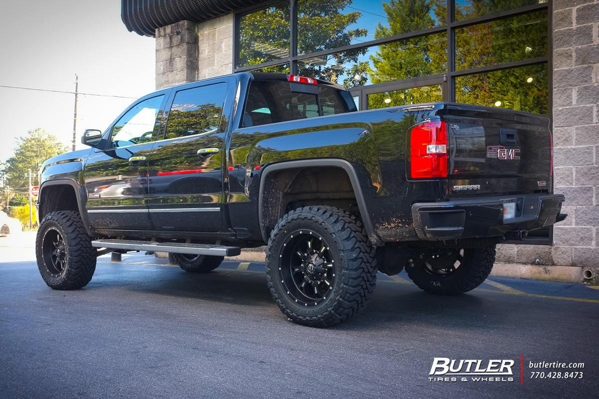 GMC Sierra with 20in Fuel Krank Wheels