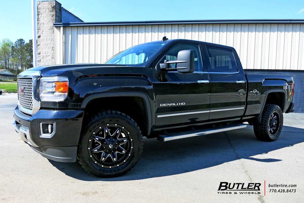 GMC Sierra with 20in Fuel Lethal Wheels