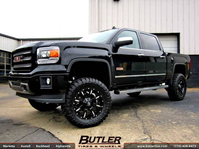 GMC Sierra with 20in Fuel Nutz Wheels