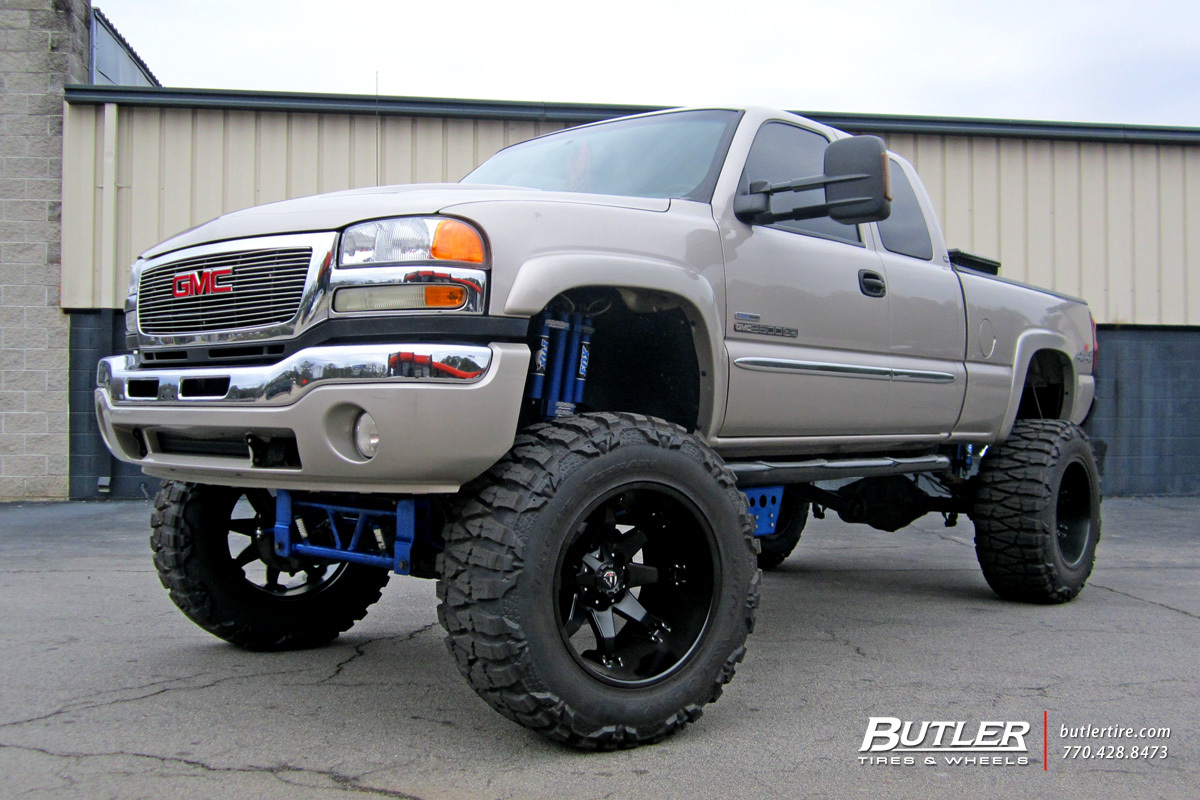 GMC Sierra with 20in Fuel Octane Wheels