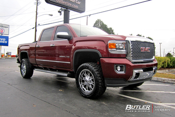 GMC Sierra with 20in Fuel Throttle Wheels