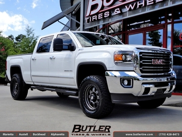 GMC Sierra with 20in Fuel Trophy Wheels