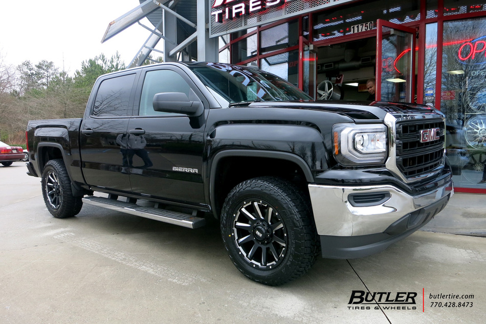 Gmc Sierra With 20in Grid Offroad Gd5 Wheels Exclusively