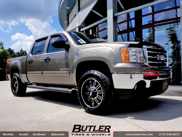 GMC Sierra with 20in MKW M80 Wheels