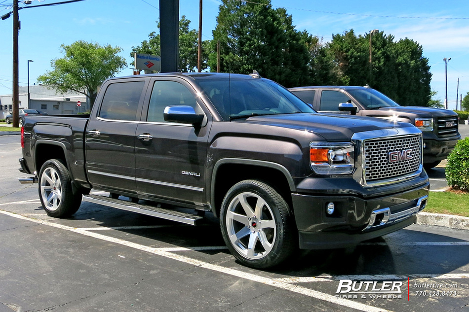 GMC Sierra with 22in Black Rhino Mozambique Wheels ...