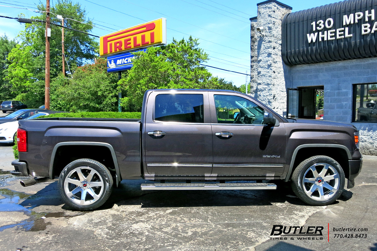 GMC Sierra with 22in Black Rhino Mozambique Wheels exclusively from Butler Tires and Wheels in ...