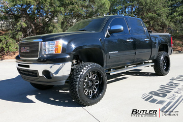 GMC Sierra with 22in Black Rhino Predator Wheels