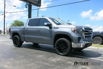 GMC Sierra with 22in Status Griffin Wheels