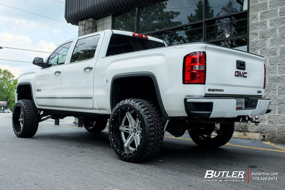 GMC Sierra with 24in Amani Forged Verato Wheels