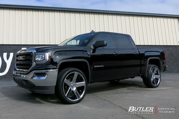 GMC Sierra with 24in DUB Baller Wheels