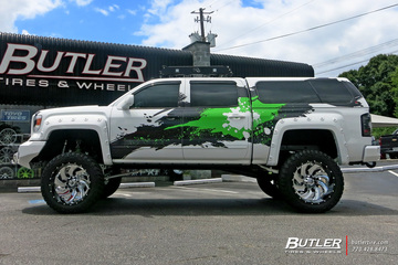 GMC Sierra with 24in Fuel Cleaver Wheels