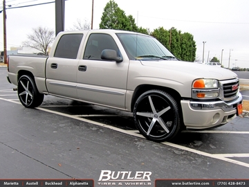 GMC Sierra with 24in Lexani R-Four Wheels