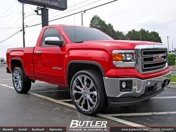 GMC Sierra with 26in Lexani Lust Wheels