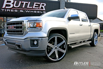 GMC Sierra with 26in Versante 228 Wheels