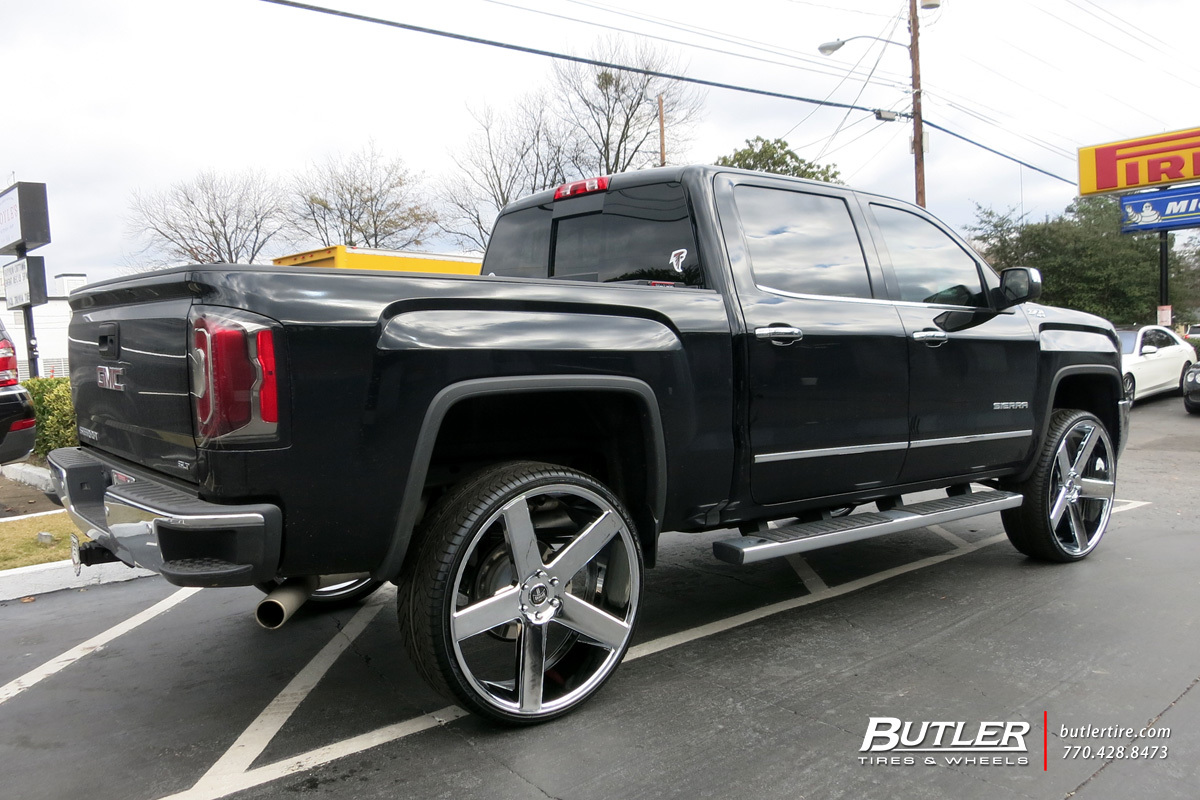 GMC Sierra with 28in DUB Baller Wheels