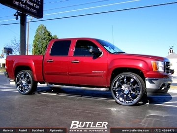 GMC Sierra with 28in Lexani LX9 Wheels