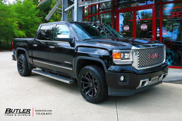 GMC Sierra Denali with 20in Black Rhino Highland Wheels