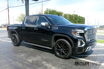GMC Sierra Denali with 22in Black Rhino Kunene Wheels