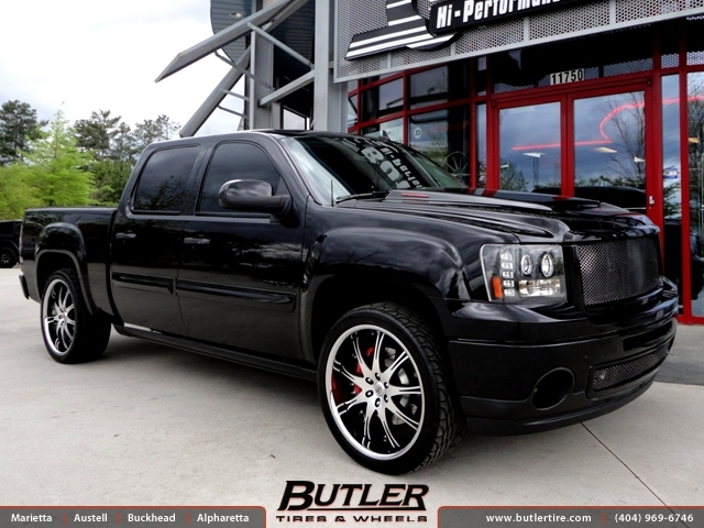 GMC Sierra Denali with 24in Lexani LX 9 Wheels