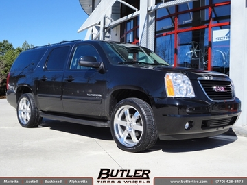 GMC Yukon with 22in Black Rhino Pondora Wheels