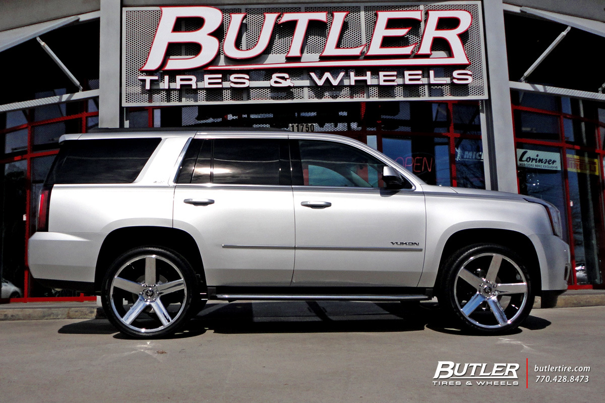 Gmc Yukon With 24in Dub Baller Wheels Exclusively From
