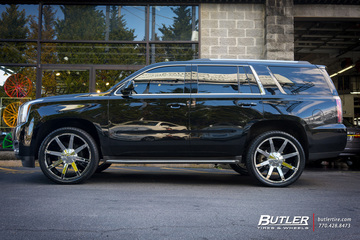 GMC Yukon with 24in KMC Slide Wheels