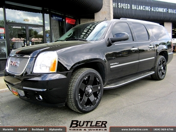 GMC Yukon Denali with 22in XD Rockstar Wheels