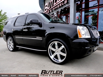 GMC Yukon Denali with 24in Black Rhino Pondora Wheels