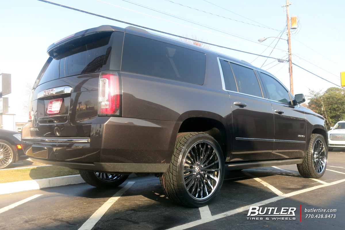 GMC Yukon Denali with 24in Lexani LF722 Wheels