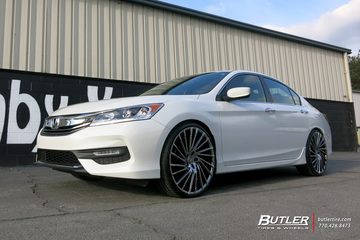 Honda Accord with 22in Lexani Wraith Wheels